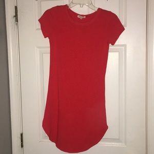 Red orange short dress